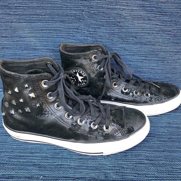 dcc23b902dac Converse Shoes - CONVERSE CHUCK TAYLOR LEATHER ALL STAR HI STUDS 7